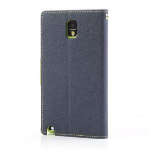 Goosp PU kožené puzdro na Samsung Galaxy Note 3 - tmavo modré - 2