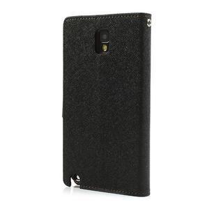 Goosp PU kožené puzdro pre Samsung Galaxy Note 3 - čierné/hnedé - 2