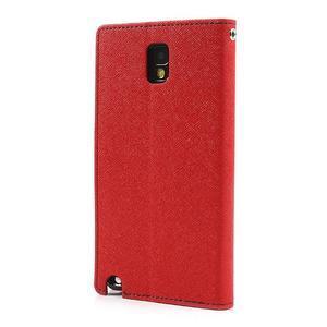 Goosp PU kožené puzdro pre Samsung Galaxy Note 3 - červené - 2