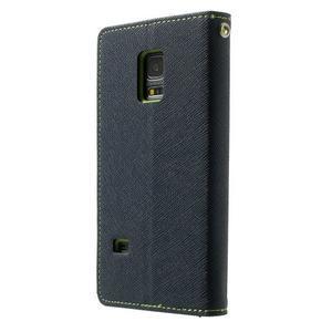 Diary PU kožené puzdro pre Samsung Galaxy S5 mini - tmavomodré - 2