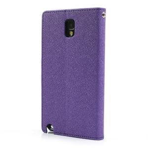 Goosp PU kožené puzdro pre Samsung Galaxy Note 3 - fialové - 2