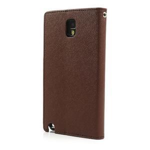 Goosp PU kožené puzdro pre Samsung Galaxy Note 3 - hnedé - 2