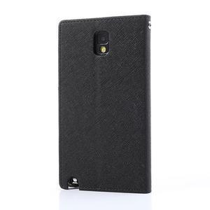Goosp PU kožené puzdro na Samsung Galaxy Note 3 - čierné/hnedé - 2