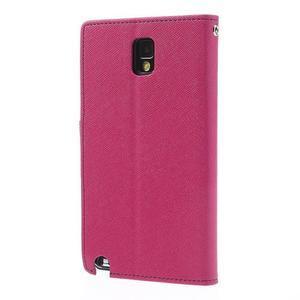 Goosp PU kožené puzdro pre Samsung Galaxy Note 3 - rose - 2