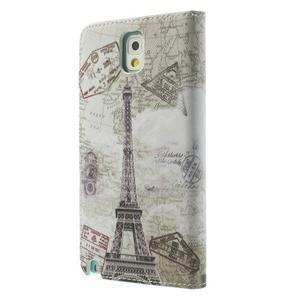Peňaženkové puzdro na mobil Samsung Galaxy Note 3 - Eiffelova veža - 2