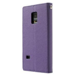 Diary PU kožené puzdro pre Samsung Galaxy S5 mini - fialové - 2