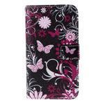 Koženkové puzdro pre mobil Sony Xperia E4 - motýľe - 2/6