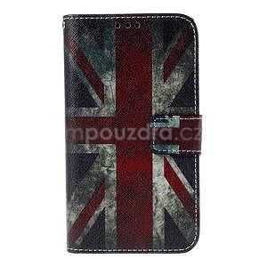 Koženkové pouzdro na mobil Sony Xperia E4 - UK vlajka - 2