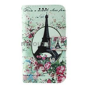 Koženkové puzdro pre mobil Sony Xperia E4 - Eiffelova veža - 2