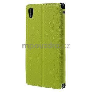 Peněženkové pouzdro s okýnkem pro Sony Xperia M4 Aqua - zelené - 2