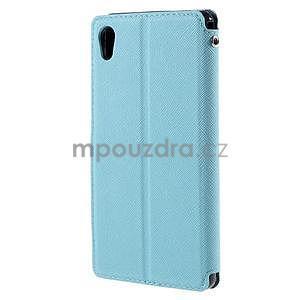 Peňaženkové puzdro s okienkom pre Sony Xperia M4 Aqua - svetlomodré - 2