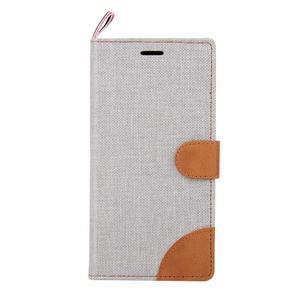 Jeans peněženkové pouzdro na mobil Sony Xperia M4 Aqua - šedé - 2
