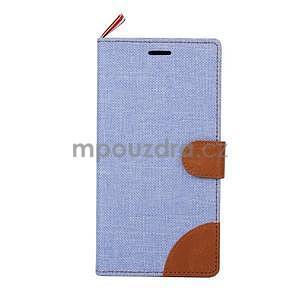 Jeans Peňaženkové puzdro pre mobil Sony Xperia M4 Aqua - svetle modré - 2