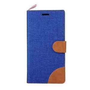 Jeans Peňaženkové puzdro pre mobil Sony Xperia M4 Aqua - modré - 2