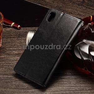 Koženkové puzdro Sony Xperia M4 Aqua - čierne - 2