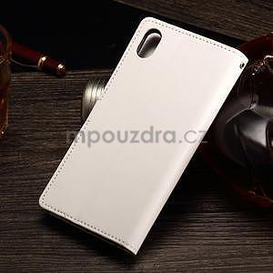 Koženkové pouzdro Sony Xperia M4 Aqua - bílé - 2
