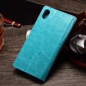 Koženkové puzdro Sony Xperia M4 Aqua - modré - 2