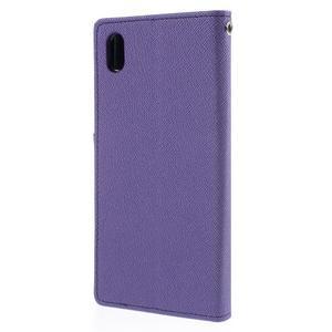 Ochranné puzdro pre Sony Xperia M4 Aqua - fialové/tmavomodré - 2