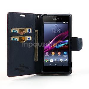 Fancy Peňaženkové puzdro pre mobil Sony Xperia Z1 - červené - 2