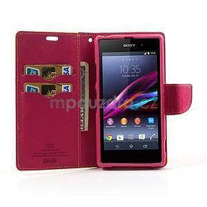 Fancy Peňaženkové puzdro pre mobil Sony Xperia Z1 - žlté - 2