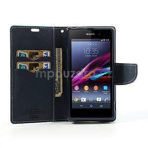 Fancy peněženkové pouzdro na mobil Sony Xperia Z1 - azurové - 2