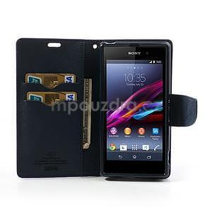 Fancy peněženkové pouzdro na mobil Sony Xperia Z1 - fialové - 2