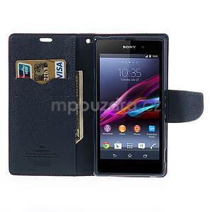 Fancy Peňaženkové puzdro pre mobil Sony Xperia Z1 - rose - 2