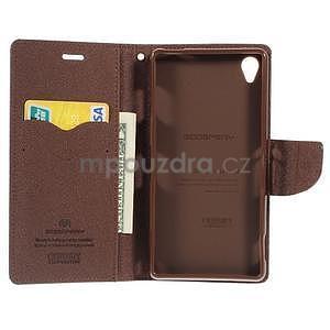 Peněženkové pouzdro na mobil Sony Xperia Z3 - černé/hnědé - 2