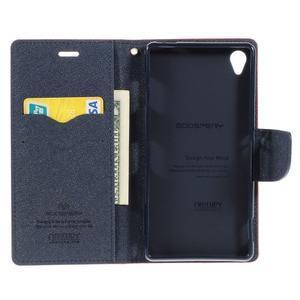 Peňaženkové puzdro pre mobil Sony Xperia Z3 - červené - 2