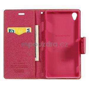 Peňaženkové puzdro pre mobil Sony Xperia Z3 - žlté - 2