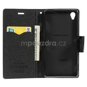 Peňaženkové puzdro pre mobil Sony Xperia Z3 - čierne - 2