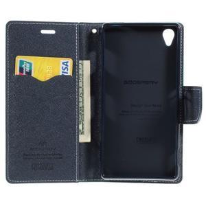 Peňaženkové puzdro pre mobil Sony Xperia Z3 - azurové - 2