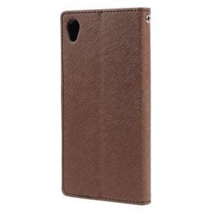 Peněženkové pouzdro na mobil Sony Xperia Z3 - hnědé - 2