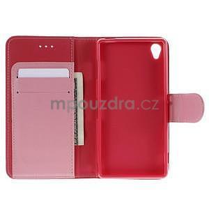 Koženkové pouzdro na Sony Xperia Z3 - červené - 2
