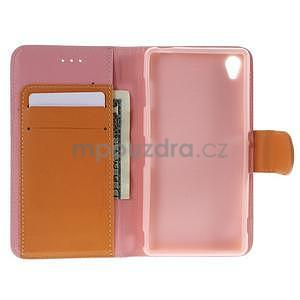 Koženkové puzdro pre Sony Xperia Z3 - ružové - 2