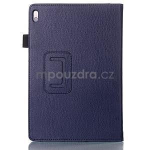 Koženkové puzdro na tablet Lenovo A10-70 - tmavomodré - 2