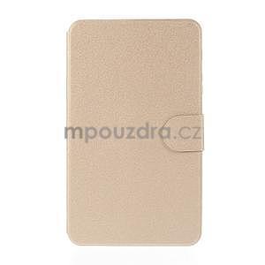 PU kožené puzdro pre tablet peňaženkové Samsung Galaxy Tab 8.0 4 - champagne - 2