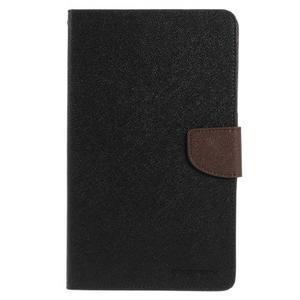 Čierne/hnedé peňaženkové puzdro Goospery na tablet Samsung Galaxy Tab 8.0 4 - 2