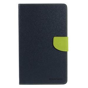Modré peňaženkové puzdro Goospery na tablet Samsung Galaxy Tab 8.0 4 - 2
