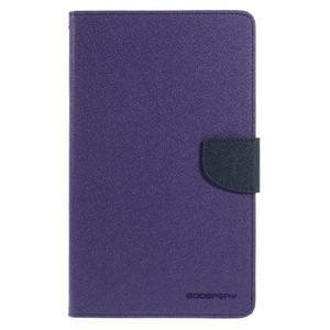 Fialové peňaženkové puzdro Goospery na tablet Samsung Galaxy Tab 8.0 4 - 2
