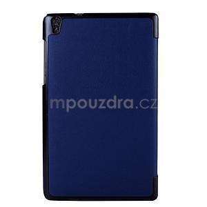 Tmavomodré puzdro na tablet Lenovo S8-50 s funkciou stojančeku - 2