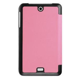 Trifold polohovatelné pouzdro na tablet Acer Iconia One 7 B1-770 - růžové - 2