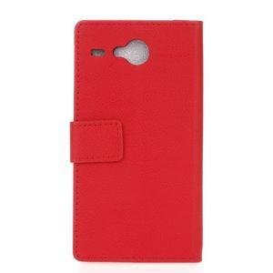 Gregory peněženkové pouzdro na Acer Liquid Z520 - červené - 2