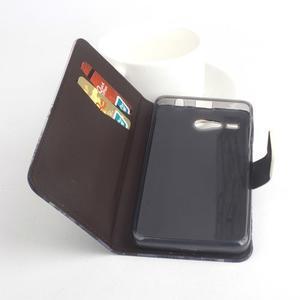 Lux peňaženkové puzdro pre mobil Acer Liquid Z520 - malovaná dievča red - 2