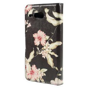 Nice koženkové pouzdro na mobil Acer Liquid Z520 - krásné květiny - 2
