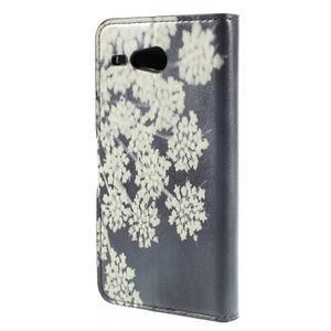 Nice koženkové pouzdro na mobil Acer Liquid Z520 - kvetoucí květy - 2