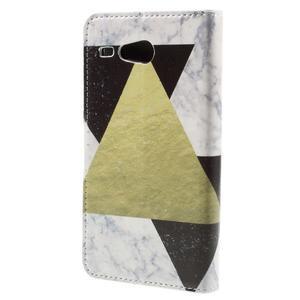 Nice koženkové pouzdro na mobil Acer Liquid Z520 - trojújelníky - 2