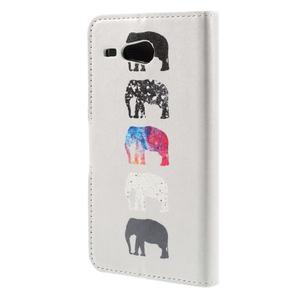Nice koženkové puzdro pre mobil Acer Liquid Z520 - sloni - 2