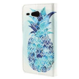 Nice koženkové puzdro pre mobil Acer Liquid Z520 - modrý ananas - 2