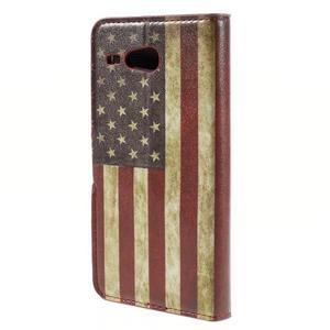 Nice koženkové puzdro pre mobil Acer Liquid Z520 - US vlajka - 2